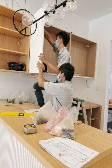 Oriss Kitchen Cabinet Installation