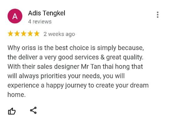 Oriss Kitchen Happy Customer 2